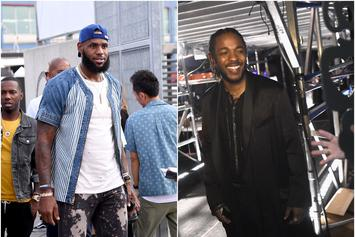 "LeBron James Raps Kendrick Lamar's ""Alright"" While Leaving Restaurant: Watch"