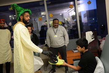 Kyrie Irving Gets Into Hoops Debate With Boston Children's Hospital Patient