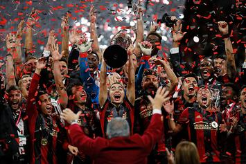 MLS Champs Atlanta United Party With MLS Cup At Magic City: Video
