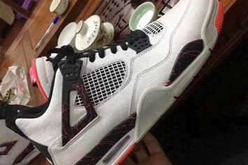 "Air Jordan 4 ""Light Crimson"" Rumored For 2019: First Look"