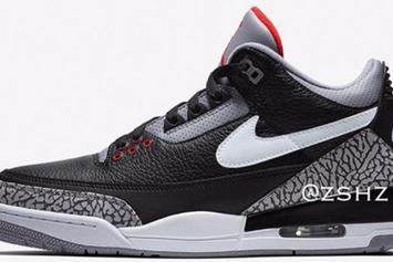 "Air Jordan 3 Tinker ""Black Cement"" Rumored For 2019"