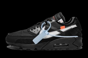 "The ""Off-White"" Nike Air Max 90 In All Black Rumored To Release In January"