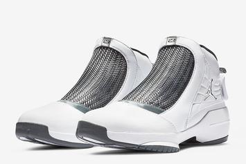 "Air Jordan 19 ""Flint"" Returning To Retailers This Weekend: Release Details"