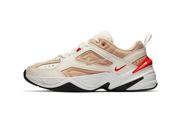 """Nike M2K Tekno """"Sail/Habanero Red"""" Colorway Comes To The Dad Shoe"""