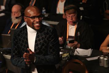 Floyd Mayweather Flexes Diamonds While Sipping Out Of Gold Chalice