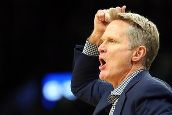 "Steve Kerr Snaps, Spikes Clipboard After Draymond Green ""Flagrant"": Video"