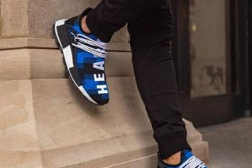 "Adidas Hu NMD X Pharrell Williams X BBC ""Blue Flannel"" On-Foot Images"