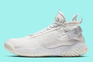 "Jordan Proto React Gets The ""Triple-White"" Treatment"