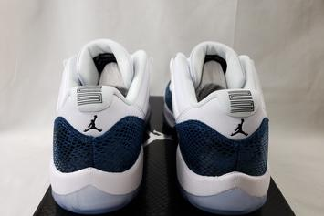 "Air Jordan 11 Low ""Blue Snakeskin"" Returns Next Month: Detailed Images"