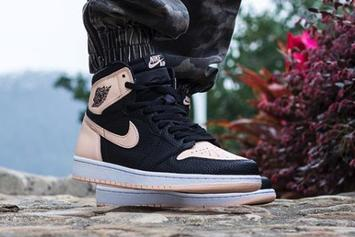 "Air Jordan 1 High OG ""Crimson Tint"" On-Foot Photos"