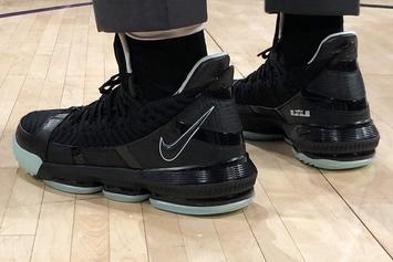 "LeBron James Flexes ""Glow In The Dark"" LeBron 16's At Lakers Game"