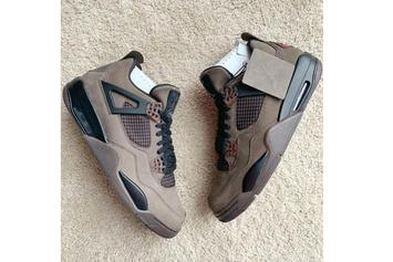 "Travis Scott x Air Jordan 4 Revealed In ""Mocha"" Colorway"