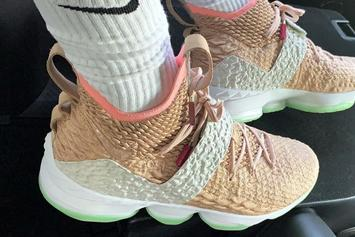 LeBron James Debuts Air Yeezy 1 x Nike LeBron 15 PE