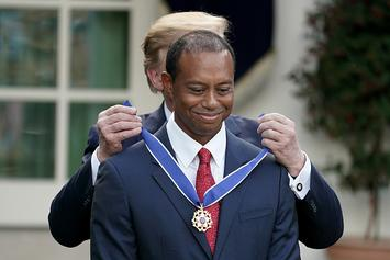 Tiger Woods Receives Presidential Medal of Freedom From Donald Trump