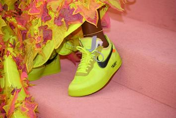"Serena Williams Flexes ""Volt"" Off White X Nike Air Force 1's At Met Gala"