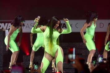 """Cardi B Brings Out Lil Nas X At Fashion Nova Launch For """"Old Town Road"""" Performance"""