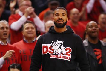 Drake Receives Custom-Made $769K Luxury OVO Coat From Toronto Raptors