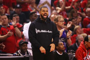 "Drake Channels Tupac's Villainy In ""Above The Rim"" During Raptors Win"