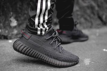 """Adidas Yeezy Boost 350 V2 """"Black"""" Drops This Week: On-Foot Photos"""