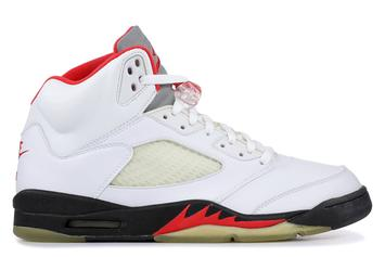 """Air Jordan 5 """"Fire Red"""" Releasing Again With Reflective Silver Tongue"""