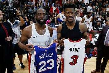 """Dwyane Wade Welcomes Jimmy Butler To Miami: """"You Can't Have My Locker"""""""