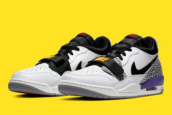 "Jordan Legacy 312 Low To Drop In ""Lakers"" Colorway: Official Photos"
