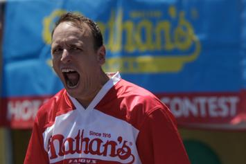 Joey Chestnut Wins His 12th Nathan's Hot Dog Eating Contest: Watch