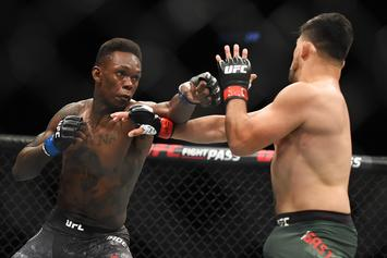 "Israel Adesanya Calls Robert Whittaker A ""Meth Head"" After UFC 243 Staredown"