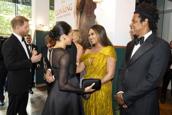 "The Carters & The Royals Connect At ""The Lion King"" London Premiere"