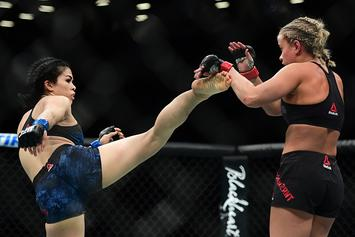 UFC's Rachael Ostovich Stuns In Skimpy Bikini Ahead Of Macedo Fight
