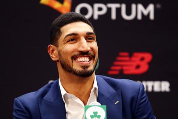 Enes Kanter Shows Off Wrestling Skills With Diamond Dallas Page: Video