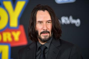 "Keanu Reeves Reveals Bizarre New Look On The Set Of ""Bill & Ted"""