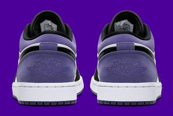 "Air Jordan 1 Low ""Court Purple"" Set To Drop Soon: Official Images"