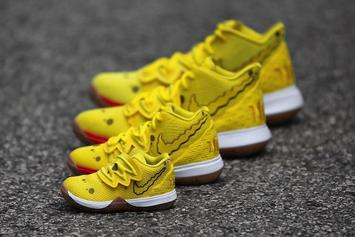 SpongeBob x Nike Kyrie 5 Releasing In Sizes For The Whole Fam