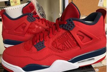 "Air Jordan 4 ""FIBA"" Drops Next Month: Detailed Images"