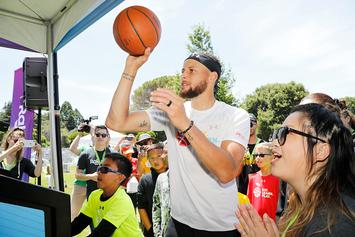 Steph Curry Balls Out With Locals At Mistah F.A.B's Block Party: Video