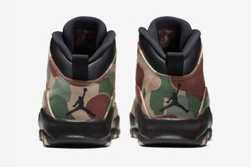 "Air Jordan 10 ""Desert Camo"" To Release After Woodland Camo Colorway"