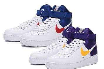 Lakers & Clippers Themed Nike Air Force 1 Highs Coming Soon: Official Images