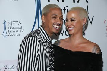 """Amber Rose Shows Off 9-Month Baby Belly: """"I'm Pretty Much On Bed Rest"""""""