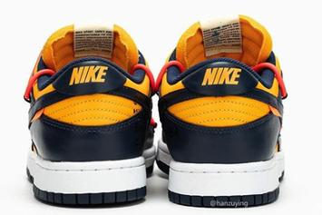 "Off-White x Nike Dunk Low ""Gold/Navy"" Coming Soon: Best Look Yet"
