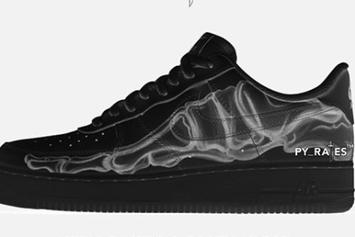 "Nike Air Force 1 Low ""Black Skeleton"" Rumored For Halloween: Details"