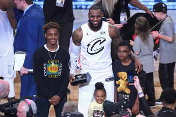Bronny James Jr. Channels LeBron With Insane Windmill Dunk: Watch