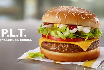 "McDonald's Joins Beyond Meat Wave With New ""P.L.T"" Burger"