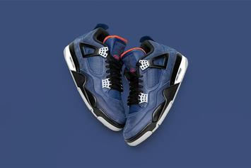 "Air Jordan 4 ""Loyal Blue"" Mimics Eminem's Exclusive Collab: Official Photos"