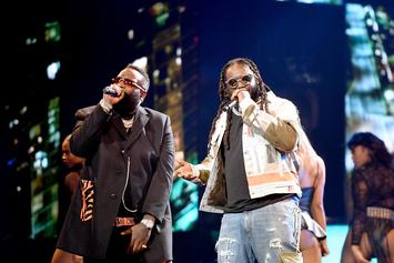 Rick Ross & T-Pain Perform A Maybach Music Medley At BET Hip Hop Awards