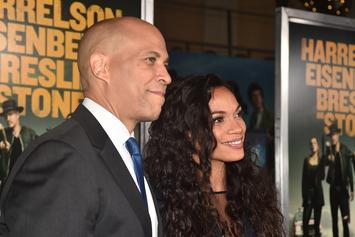 Cory Booker & Rosario Dawson Can't Keep Their Hands Off Each Other At Movie Premiere