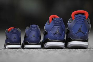 "Air Jordan 4 Winterized ""Loyal Blue"" Releasing In Sizes For The Whole Fam"