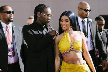 "Offset Welcomes Cardi B & Baby Kulture On Stage For ""Clout"" Performance: Watch"