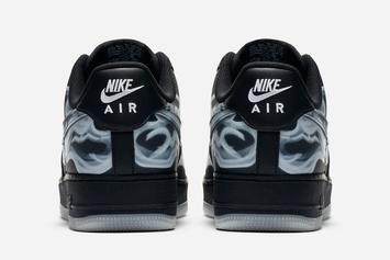 black skeleton air force 1