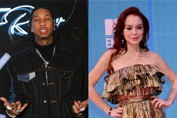 Lindsay Lohan Pops Up In Tyga's IG Comments... Again